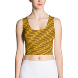 Neon Wavy Lines Gold Crop Top - Stradling Designs