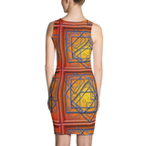 Orange Tile 3 Dress
