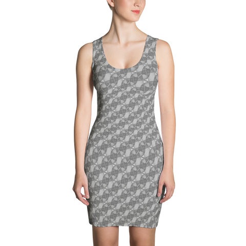 Ribbons Dress Silver - Stradling Designs