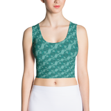 Ribbons Crop Top Turquoise - Stradling Designs