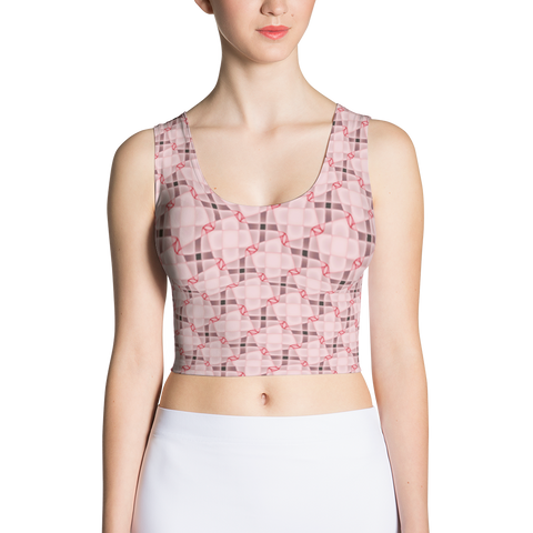 Steel Crop Top Pink - Stradling Designs