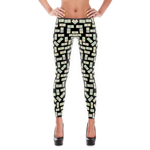 Domino Tiles Leggings Black - Stradling Designs