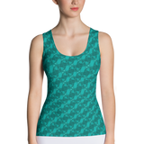 Ribbons Tank Top Turquoise - Stradling Designs