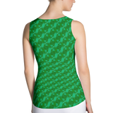 Ribbons Tank Top Green - Stradling Designs