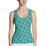 Steel Tank Top Turquoise - Stradling Designs