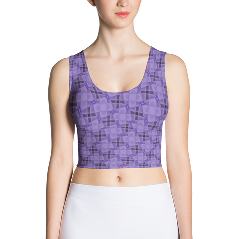 Steel Crop Top Purple
