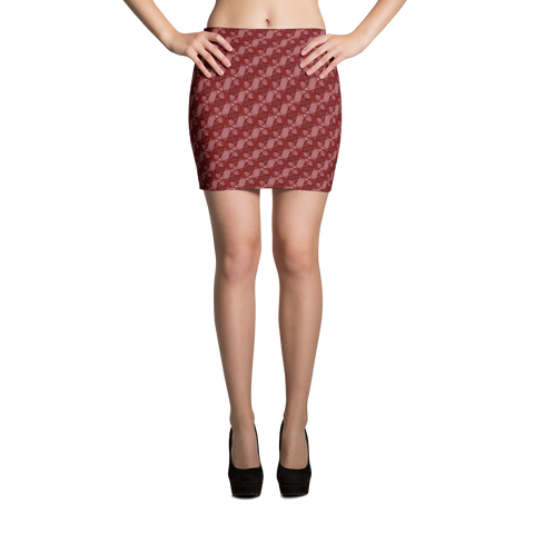 Ribbons Mini Skirt Red - Stradling Designs