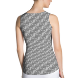 Ribbons Tank Top Silver - Stradling Designs