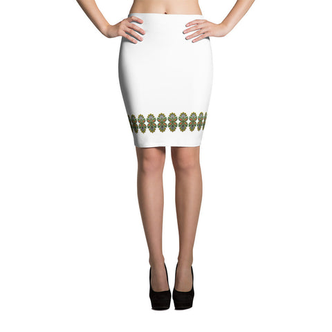 Cloth Lace Butterfly Effect-A Pencil Skirt - Stradling Designs