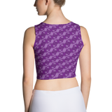 Ribbons Crop Top Purple