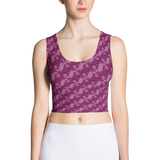 Ribbons Crop Top Pink - Stradling Designs