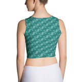 Ribbons Crop Top Turquoise