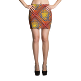 Orange Tile 2 Mini Skirt - Stradling Designs
