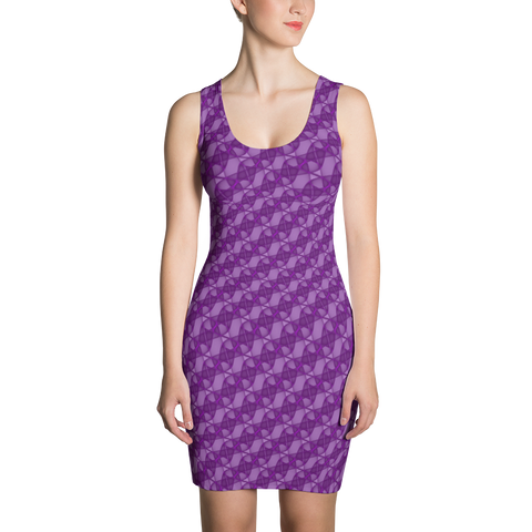 Ribbons Dress Purple - Stradling Designs