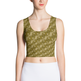 Ribbons Crop Top Gold