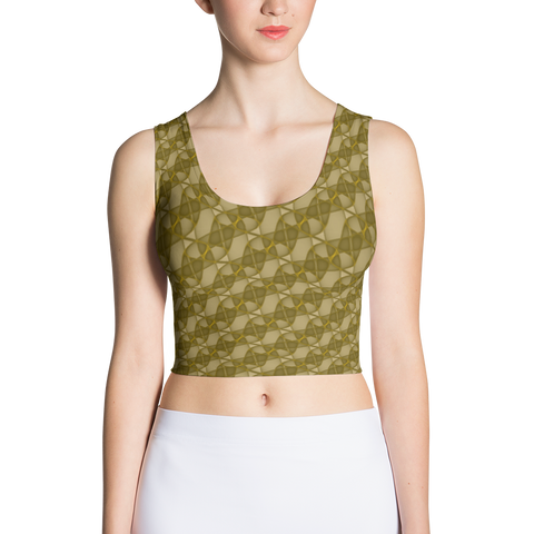 Ribbons Crop Top Gold - Stradling Designs