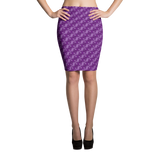 Ribbons Pencil Skirt Purple - Stradling Designs