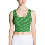 Ribbons Crop Top Green - Stradling Designs