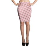 Steel Pencil Skirt Pink