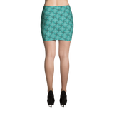 Steel Mini Skirt Turquoise - Stradling Designs