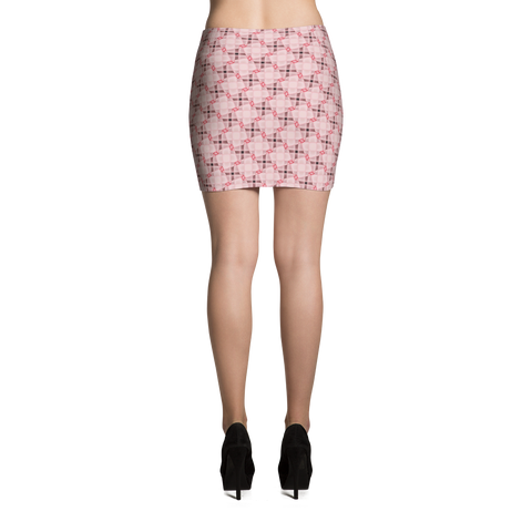 Steel Mini Skirt Pink - Stradling Designs