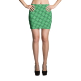 Steel Mini Skirt Teal - Stradling Designs