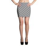 Ribbons Mini Skirt Silver - Stradling Designs