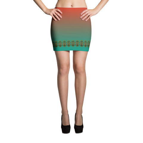 Cloth Lace Butterfly Effect-C All-over Mini Skirt Front View