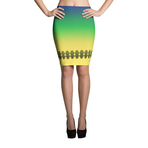 Cloth Lace Butterfly Effect-D Pencil Skirt
