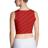 Neon Wavy Lines Red Crop Top - Stradling Designs