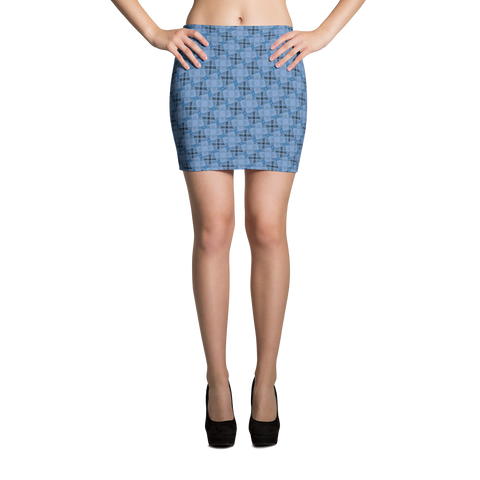 Steel Mini Skirt Blue - Stradling Designs