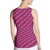 Ribbons Tank Top Pink - Stradling Designs
