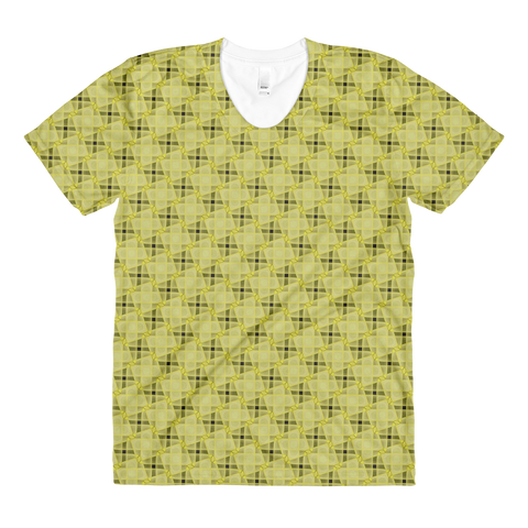 Steel women's crew neck t-shirt Yellow - Stradling Designs