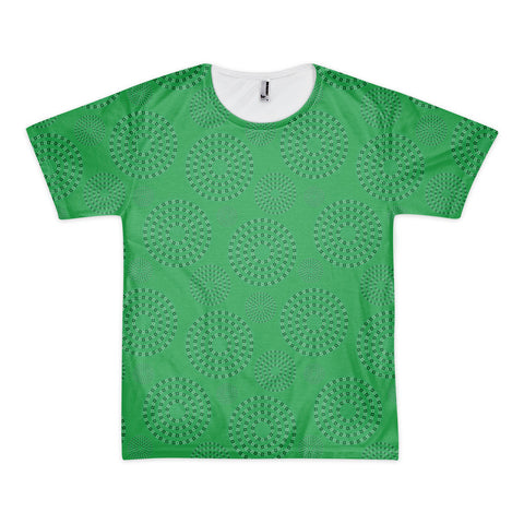 Square-Circle-Spiral T-shirt Green (unisex)