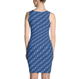 Ribbons Dress Blue - Stradling Designs