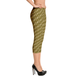 Ribbons Capri Leggings Gold - Stradling Designs