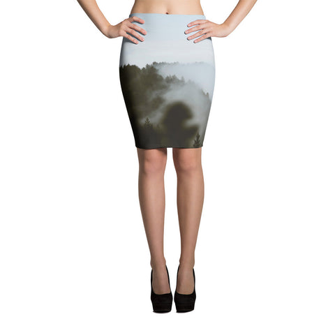 Forest-n-Fog All-over Pencil Skirt