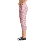 Steel Capri Leggings Pink - Stradling Designs