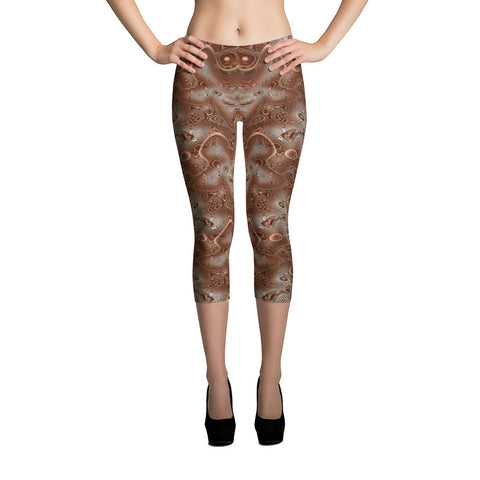 Coppertone Shield Swirl Capri Leggings - Stradling Designs