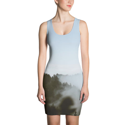 Forest-n-Fog All-over Dress - Stradling Designs