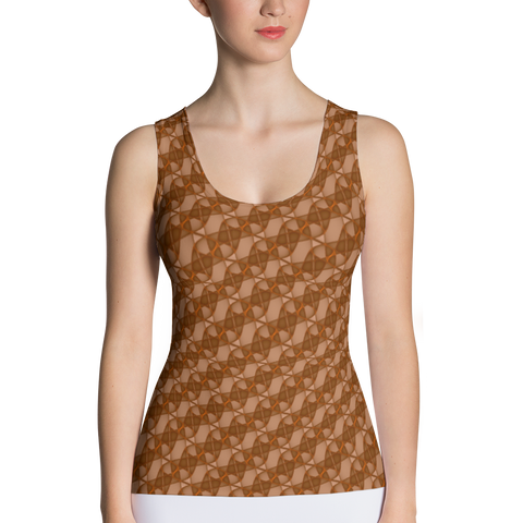 Ribbons Tank Top Orange - Stradling Designs