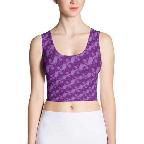 Ribbons Crop Top Purple - Stradling Designs