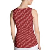 Ribbons Tank Top Red - Stradling Designs