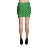 Ribbons Mini Skirt Green - Stradling Designs