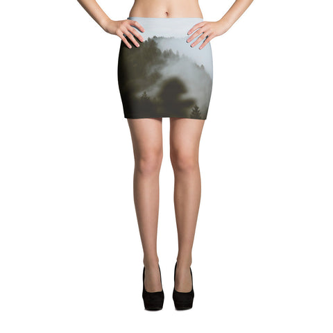 Forest-n-Fog All-over Mini Skirt - Stradling Designs
