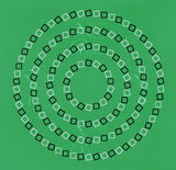 Square-Circle-Spiral T-shirt Green (unisex) - Stradling Designs