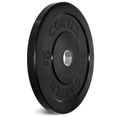 Cortex Black 10kg Bumper Plate (Pair) ( Arriving in July Pre Purchase NOW it will Run out before it gets here)