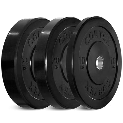 Cortex Black Series Bumper Olympic Plate Set 110kg (10/20/25 x2)