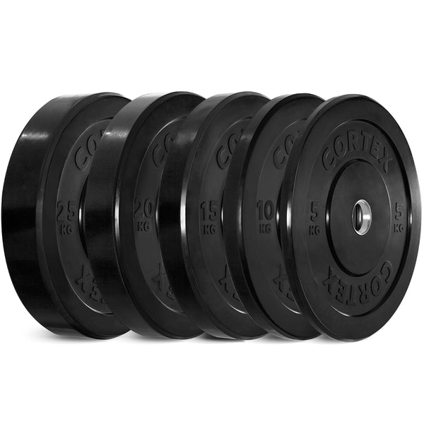 Cortex Black Series Bumper Olympic Plate Set 150kg (5/10/15/20/25 x2)