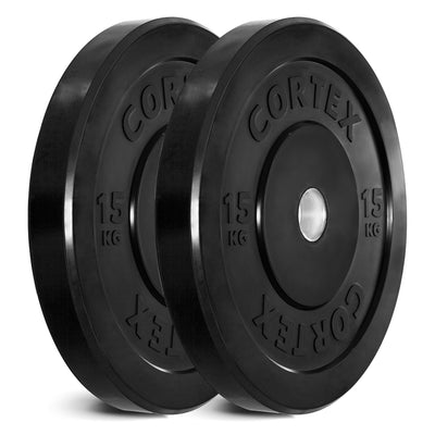 Cortex Black Series Bumper Olympic Plate Set 150kg (5/10/15/20/25 x2) ( Arriving in July Pre Purchase NOW it will Run out before it gets here)